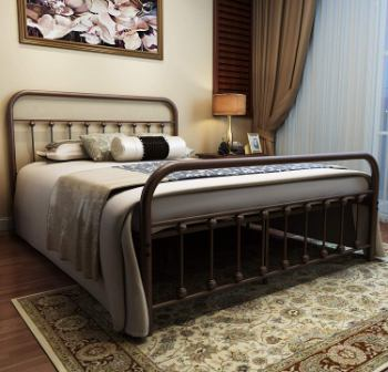 URODECOR Country Style Iron Bed Frame