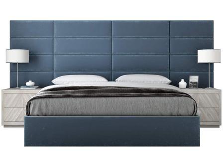 VANT Peacock Blue Plush Velvet Upholstered Headboards – Packs of 4