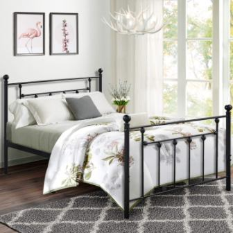 VECELO Victorian Style Iron Bed Frame