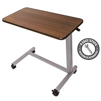 Vaunn Medical Adjustable Overbed Bedside Table