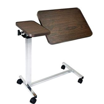 Vaunn Medical Adjustable Tilt Overbed Table