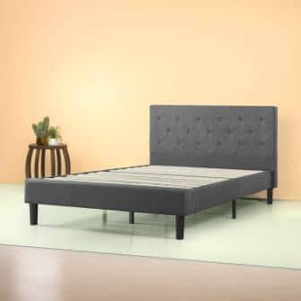 Zinus Shalini Upholstered Diamond Stitched Platform Bed