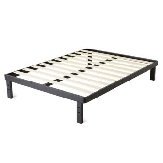 intelliBASE Wood Slat Metal Platform Bed Frame