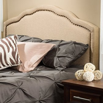 Christopher Knight Home 238881 Wimbley Canvas Fabric, Queen to Full Adjustable Headboard