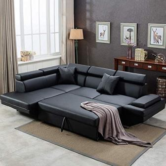 FDW Sectional Sofa Bed Sleeper