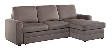 Homelegance 8211 Welty Sectional Sofa with Pull-Out Bed