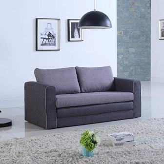 Modern 2 Tone Modular Convertible Twin Sleeper Sofa