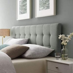 Modway Lily Tufted Linen Fabric Upholstered Headboard