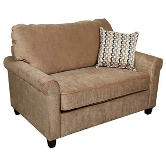 Porter Designs Serena Plush Microfiber Twin Sleeper Sofa
