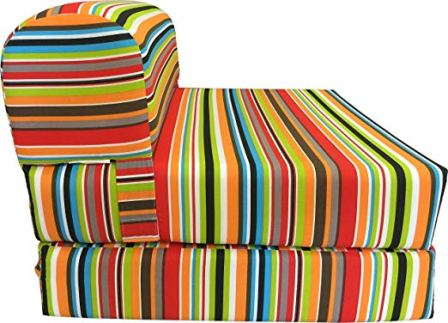 D&D Futon Furniture Multicolor Stripes Sleeper Chair