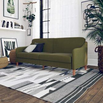 DHP Jasper Coil Futon, Green Linen