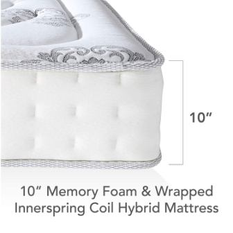 Decker Hybrid Memory Foam and Innerspring 10.5-Inch Mattress Review