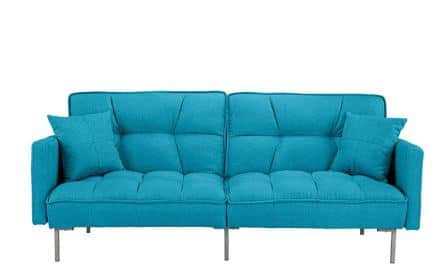 Divano Roma Furniture Verne Modern Linen Plush Futon