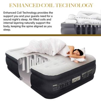 King Koil Queen Air Mattress with Built-in Pump Review