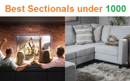 Top 15 Best Sectionals under 1000 in 2019