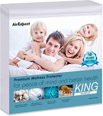 AirExpect Waterproof Organic Mattress Protector
