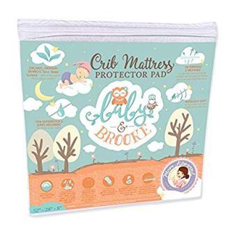 Baby and Brooke Organic Waterproof Crib Mattress Cover Pad