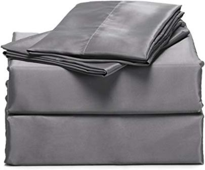 Bedsure 4-Piece Satin Bed Sheet Set