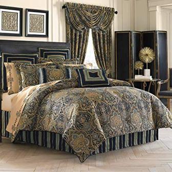 Five Queens Court Palmer Damask Comforter Set