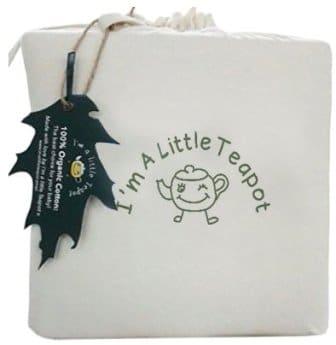 I'm A Little Teapot Organic Cotton Crib Mattress Pad Protector