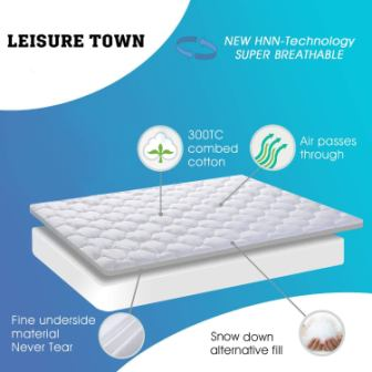 LEISURE TOWN Mattress Topper Review