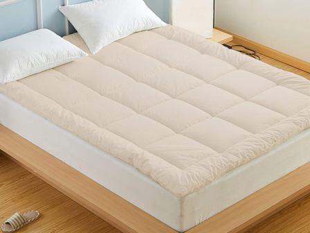 Organic Comfort Market 100% Natural Wool Mattress Topper