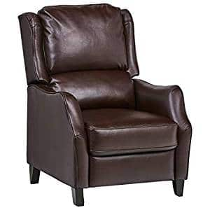 Ravenna Home – Push Back Faux Wingback Leather Recliner