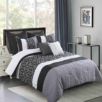 Wonder Home 8-Piece Pintuck Comforter Set