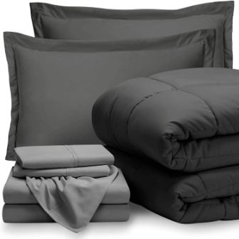 Bare Home Bed-in-A-Bag 7 Piece Comforter Set