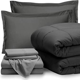 Bare Home Bed-in-A-Bag 7 Piece Comforter & Sheet Set