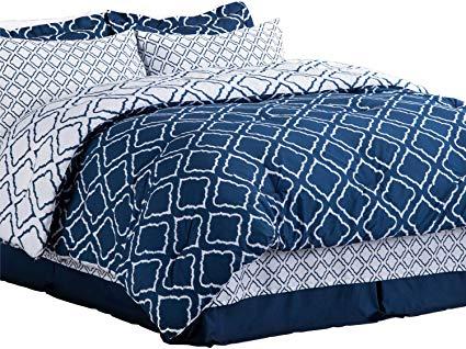 Bedsure 8 Pieces Down Alternative Bed in a Bag Queen Size Comforter Set