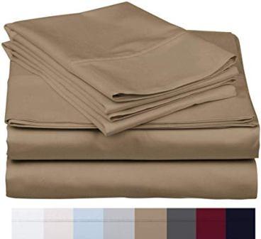Carressa Linen 4 Piece Luxury Hotel Collection Twin Bedding Set