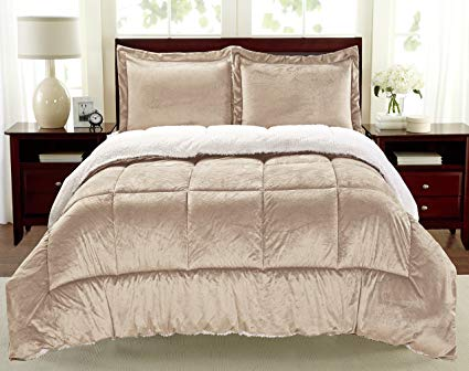 Cathay Home – Faux Fur Sherpa Comforter Set