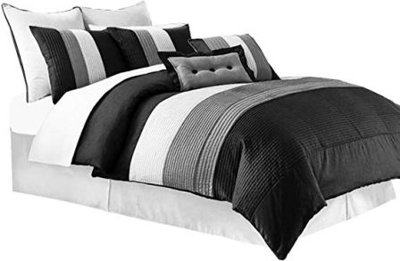 Chezmoi Collection 6 Pieces Luxury Twin Bedding Set