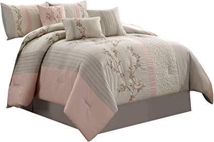 Chezmoi Collection Linnea 6-Piece Luxury Twin Bedding Set