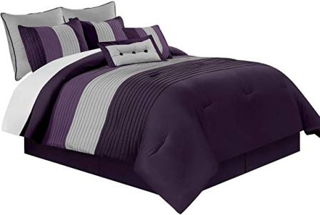 Chezmoi Collection Loft 8-Piece Luxury Striped Comforter Set