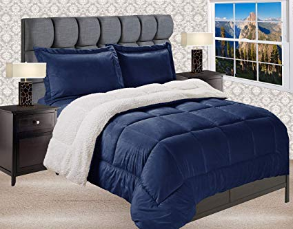Elegant Comfort Reversible Down Alternative Comforter Set