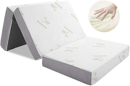 Folding Mattress, Inofia Memory Foam Tri-fold Mattress