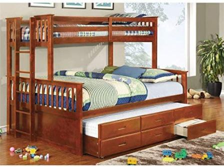 Furniture of America Twin over Queen Bunk Bed