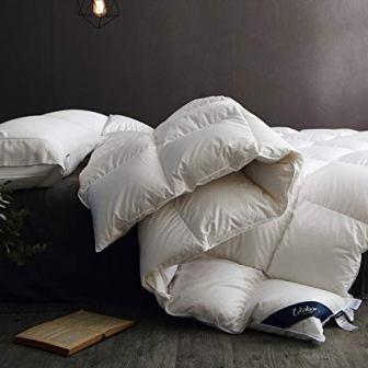 Globon Fusion White Goose Down Comforter, King Size