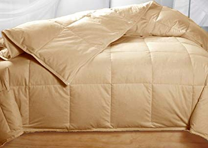 Golden Beige Colored Feather Down Comforter – King Size
