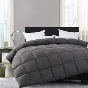 HOMBYS Luxury Gray Real Comforter Set