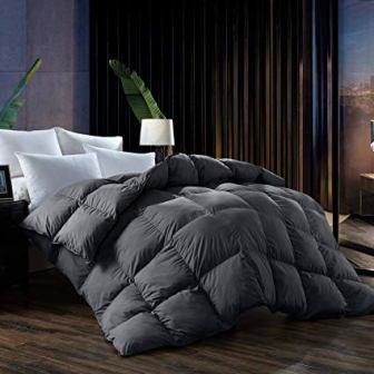 L LOVSOUL Goose Down Queen Comforter