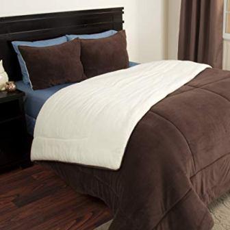 Lavish Home – Sherpa Comforter Set