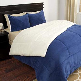 Lavish Home 3 Piece Fleece Comforter Set