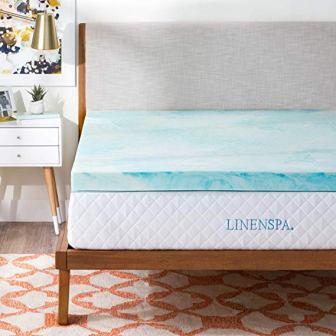 Linenspa Gel Swirl Memory Foam Mattress Topper