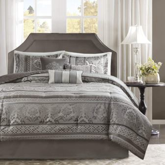 Madison Park Bellagio Comforter Set (Grey)