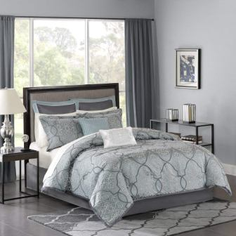 Madison Park LaVine Jacquard Comforter Set (King)
