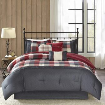 Madison Park Ridge Comforter Set (Queen)