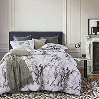 Marble Comforter Set by Wake in Cloud